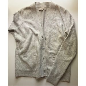 loft light grey super soft boyfriend cardigan